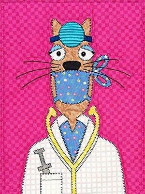 Block 5 of Kitty City Quilt One-Eyed Pete Pattern