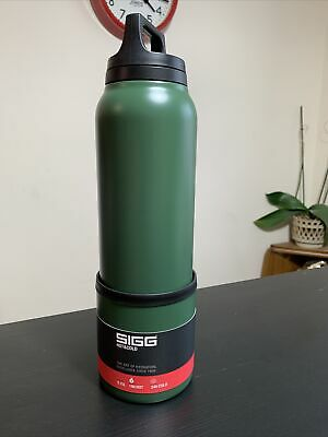 Sigg Hot /& Cold Flask 0.75L Khaki with Cup Brand New