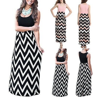 Women Long Sleeve Print Turn-down  Party Vintage Bodycon Pleated Maxi  Dress #P