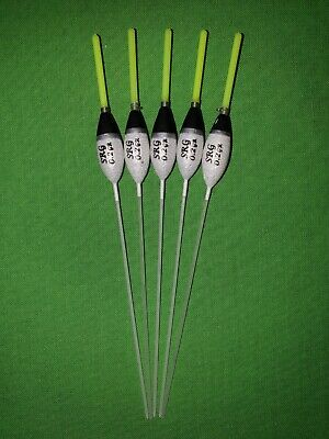 5 x Assorted High Quality Pole Fishing Floats 0.2g Red Tip WE316