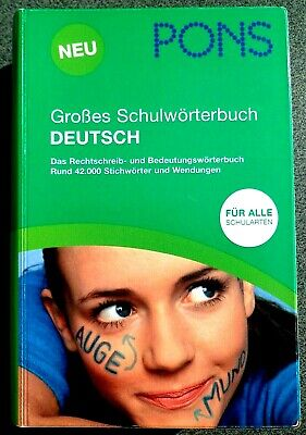 PONS Large School Dictionary German Klett for all types of schools 2010 2nd edition 1550 p