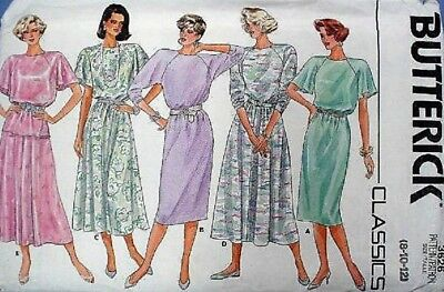 Butterick 3626 Ladies Dress Top and Skirt  8-10-12