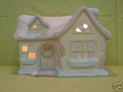 Precious Moments Sam's House Porcelain Night Light  NIB