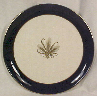 Vintage GOLDEN WHEAT BREAD & BUTTER PLATE BLUE BORDER