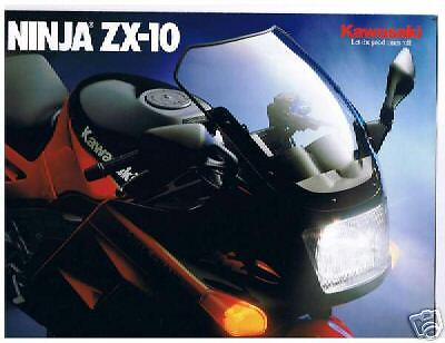 '88 Kawasaki Ninja Zx-10 Original Dealer Sales Brochure