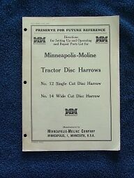 Minneapolis Moline Tractor Disc Harrows Operating