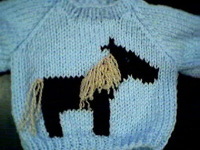 Horse Sweater Handmade for 16 in Cabbage Patch Kid Doll