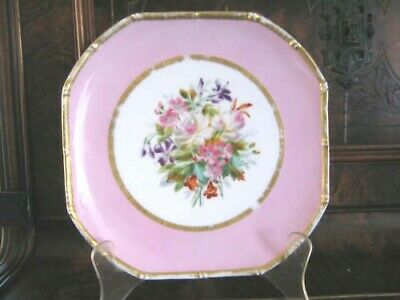 Beautiful Continental 19th Century Hand-painted plate D