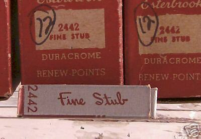 Esterbrook Nib 2442 FINE STUB--NEW OLD STOCK