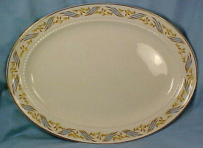 1950s Blue Gold ARLINGTON MEAT PLATTER 4 SEARS by HALL