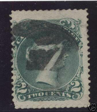 Canada #24v Used Major Re-Entry With Lovely 7 Cancel