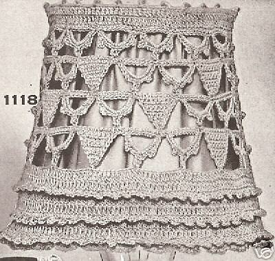 Vintage Antique Crochet Lampshade Candle Shade Pattern