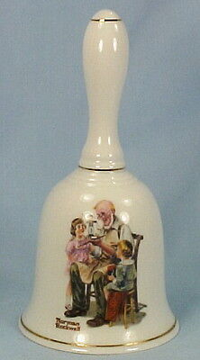 1985 The Toymaker Norman Rockwell Porcelain Bell