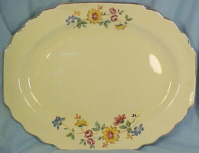 Nice BLOSSOMS LIDO CANARYTONE MEAT PLATTER W S George