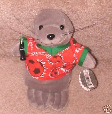 "Coca Cola Seal in Soccer Shirt 8 1/2"" Stuffed"