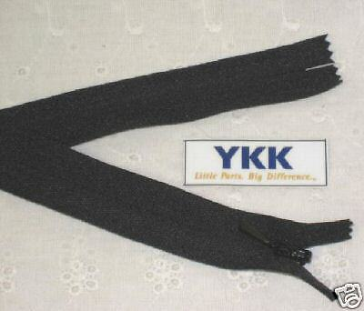 """(100) 10"""" Invisible Zippers ~Closed Bottom~ Black ~ YKK"""
