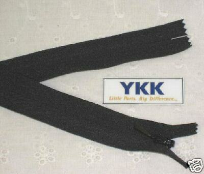 "(100) 20"" Invisible Zippers ~Closed Bottom~ Black ~ YKK"