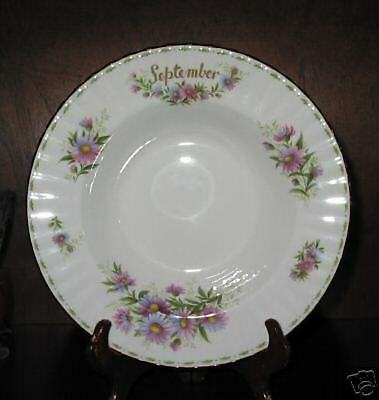 Royal Albert  FLOWER OF THE MONTH Rim Soup September