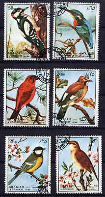 Sharjah 1972 Song Birds Complete Set Of Six Stamps!