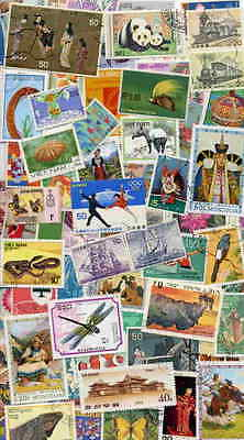 Collection Of 1,000 Large Pictorial Stamps From Asia!