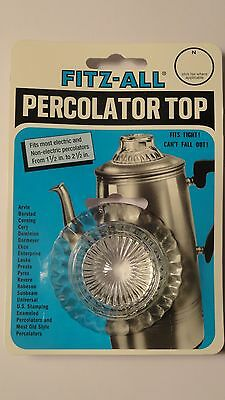 "Tops 246 Fitz-All  Replacement Percolator Glass 1 1/2"" - 2 1/2"""