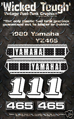 Yamaha 1980 Yz465 Wicked Tough Decal Graphic Kit