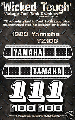 Yamaha 1980 Yz100 Wicked Tough Decal Graphic Kit