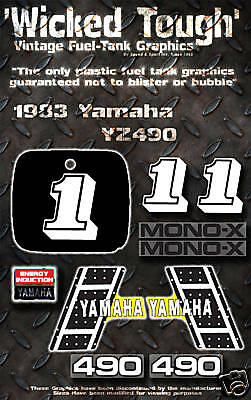 YAMAHA 1983 YZ80 WICKED TOUGH DECAL GRAPHIC KIT