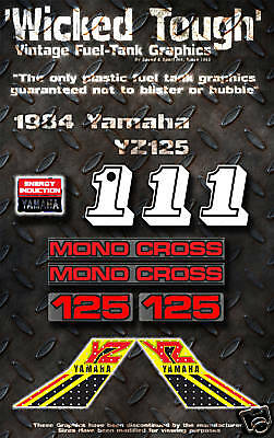 Yamaha 1984 Yz125 Wicked Tough Decal Graphic Kit