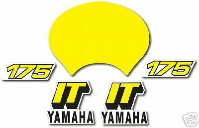 Yamaha 1981 It175 Complete Decal Graphic Kit Like Nos