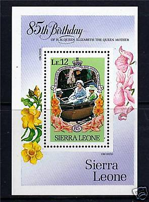 Sierra Leone1985 Life & Times Queen Mother MS875 MNH