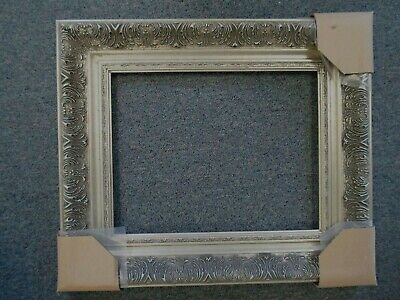 Picture Frame- Vintage Antique Ornate Silver Pewter Grey Baroque- 16 x 20