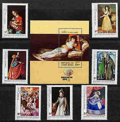 Guinea Bissau 1984 Spanish Painting Stamps - Mint Complete Set & Ss - $10 Value!