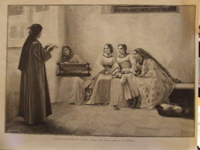 INCISIONE - DONNE CH'AVETE INTELLETTO quadro FLANDRIN