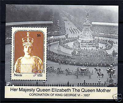 Nevis 1990 Queen Mother 90th Birthday MS558 MNH