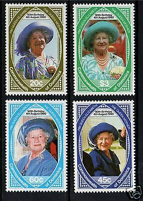 Dominica 1990 Queen Mother 90th Birthday SG1373/6 MNH