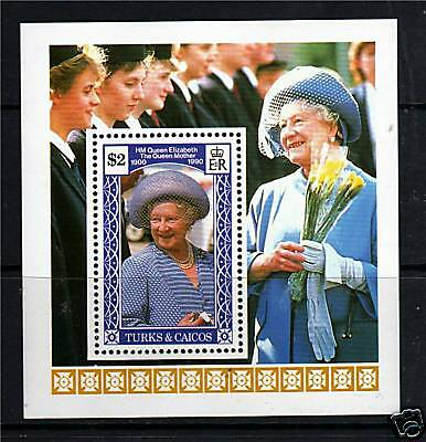 Turks & Caicos 1990 Queen Mother 90th B/day MS1049 MNH