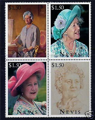 Nevis 1995 Queen Mother 95th Birthday SG923/6 MNH