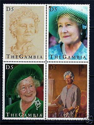 Gambia 1995 Queen Mother 95th Birthday SG2025/8 MNH