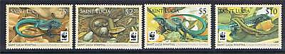 St Lucia 2008 WWF Whiptail Lizard NEW ISSUE MNH