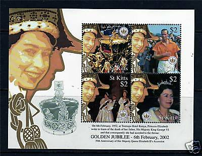 St Kitts 2002 Queens Golden Jubilee SG685/7 MNH