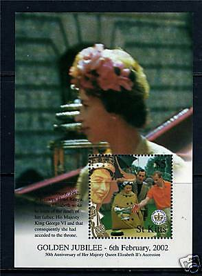 St Kitts 2002 Queens Golden Jubilee MS689 MNH
