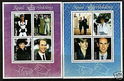 Nevis 1999 Royal Wedding SG1354/61 MNH