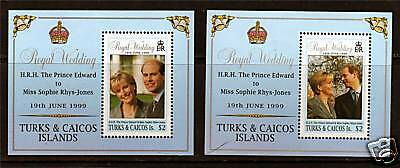 Turks & Caicos 1999 Royal Wedding MS1544 MNH