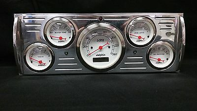 41 42 43 44 45 46  CHEVY TRUCK 5 GAUGE CLUSTER WHITE