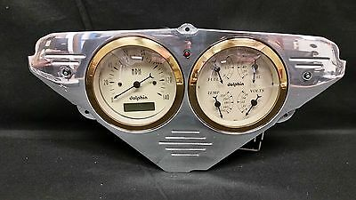 55 56 57 58 59 CHEVY TRUCK QUAD GAUGE CLUSTER GOLD