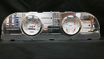 60 61 62 63 CHEVY TRUCK 3 3/8 QUAD GAUGE CLUSTER WHITE