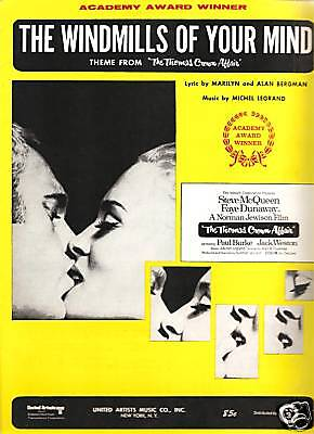 Sheet Music  1968 The Windmills Of Your Mind       108