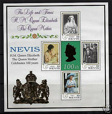 Nevis 1999 Queen Mothers 100th B/day SG 1387/90 MNH