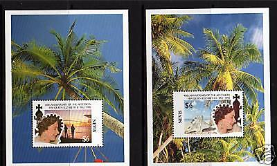 Nevis 1992 Queen's 40th Anniv Accession MS 659 MNH